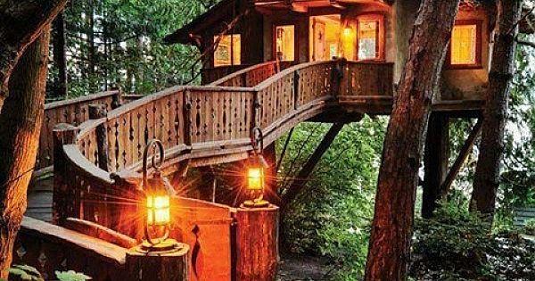 Harika ağaç evler!