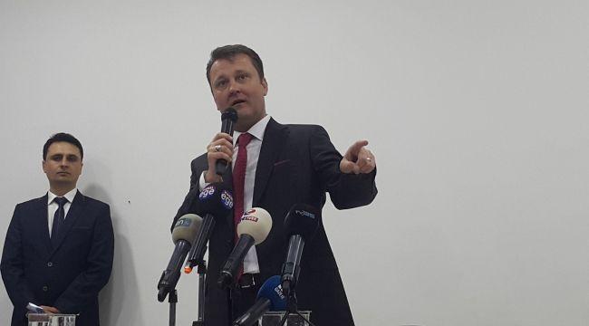 Serdar Aksoy basın açıklaması yaptı