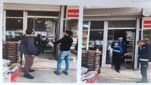 Suriyelilerin dükkanlarını mühürledi