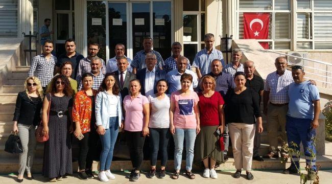 Kiraz Belediyesi'nde işten çıkarılan işçilere destek