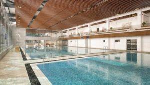 Bornova'da yüzme havuzunun temeli atılıyor