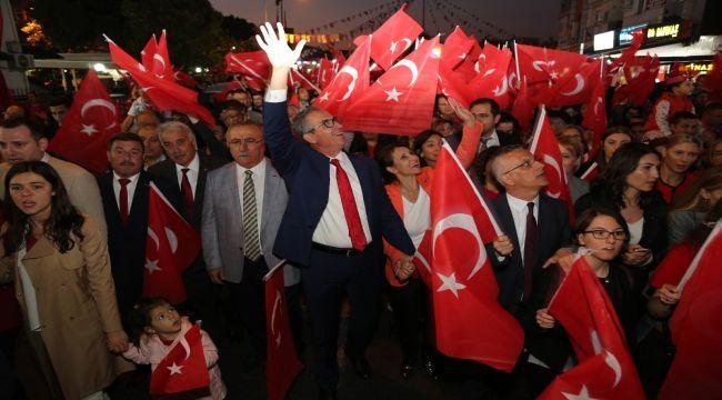 Gaziemir'e yakışan Cumhuriyet kutlaması