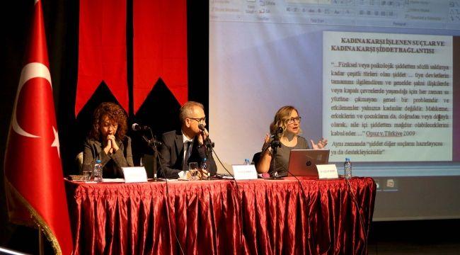 """Karşıyakalı kadınlara """"şiddetsiz iletişim"""" paneli"""