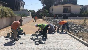 Narlıdere'de yol yenileme çalışmalarına devam