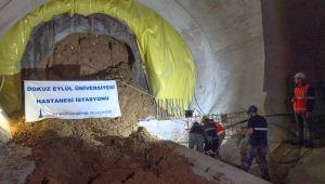 Narlıdere Metrosu'nda üçüncü istasyona ulaşıldı