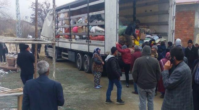 Ödemişlilerin yardımları Elazığ'a ulaştı