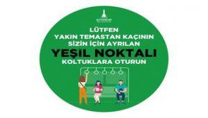"""İzmir'de """"yeşil koltuk"""" uygulaması başladı"""