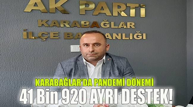Karabağlar'da Pandemi Dönemi 41 Bin 920 Destek!