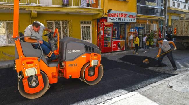Karabağlar'da asfalt seferberliği