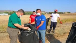 Başkan Oran çöp topladı