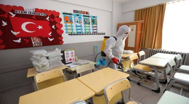 Güzelbahçe Belediyesi'nden okullarda Koronavirüs Önlemi