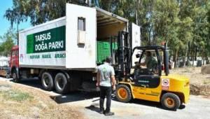 İzmir Büyükşehir Belediyesi Tarsus'a 57 yaban hayvanı gönderdi