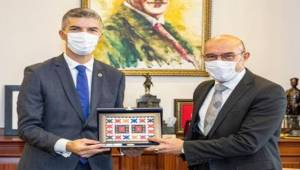 Kosova'nın Ankara Büyükelçisi Dugolli'den Başkan Soyer'e ziyaret
