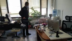 Belediye hizmet binasında dezenfekte devam ediyor
