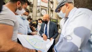 Başkan Soyer, Talatpaşa Bulvarı'ndaki asfalt çalışmalarını inceledi